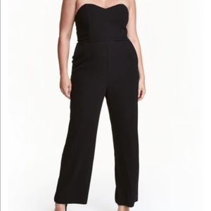 Torrid H&M Plus Size Black Strapless Jumpsuit New